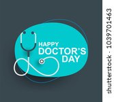 doctors day greeting cad design ... | Shutterstock .eps vector #1039701463