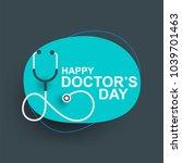 doctors day greeting cad design ... | Shutterstock .eps vector #1039701463