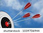target arrow objective strategy ... | Shutterstock . vector #1039706944