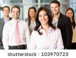 Business Woman With Her Team At ...