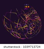 moving colorful lines of... | Shutterstock .eps vector #1039713724