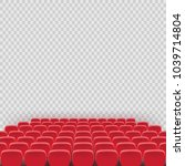vector theatre red seat chair... | Shutterstock .eps vector #1039714804