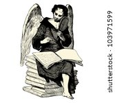 angel writing in a book  ... | Shutterstock .eps vector #103971599