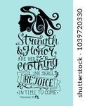 hand lettering strength and... | Shutterstock .eps vector #1039720330