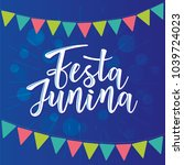 festa junina illustration... | Shutterstock .eps vector #1039724023