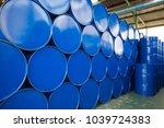 Oil Barrels Blue  Or Chemical...