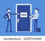 fired office worker and boss.... | Shutterstock .eps vector #1039724440