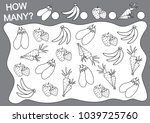 count how many fruits  berries... | Shutterstock .eps vector #1039725760
