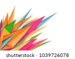 spiked shape colors vector... | Shutterstock .eps vector #1039726078