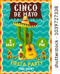 chico de mayo holiday... | Shutterstock .eps vector #1039727338