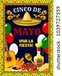 cinco de mayo mexican holiday... | Shutterstock .eps vector #1039727359