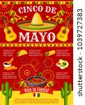 cinco de mayo mexican greeting... | Shutterstock .eps vector #1039727383