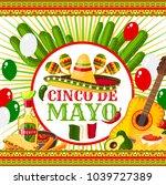 cinco de mayo festive vector... | Shutterstock .eps vector #1039727389