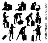 collection vector silhouette... | Shutterstock .eps vector #1039728520