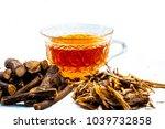 ayurvedic herb liquorice root... | Shutterstock . vector #1039732858
