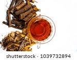 ayurvedic herb liquorice root... | Shutterstock . vector #1039732894