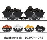 pile of charcoal coal mine gold ... | Shutterstock .eps vector #1039744078