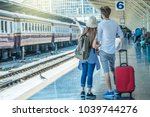 back side of multiethnic... | Shutterstock . vector #1039744276