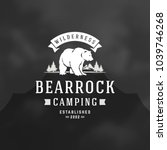 bear logo emblem vector... | Shutterstock .eps vector #1039746268
