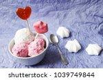 homemade strawberry and vanilla ... | Shutterstock . vector #1039749844