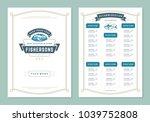 bistro  brochure  cover  flyer  ... | Shutterstock .eps vector #1039752808