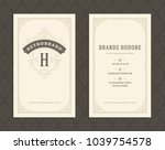 luxury business card and... | Shutterstock .eps vector #1039754578