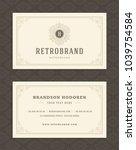 luxury business card and... | Shutterstock .eps vector #1039754584