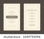 luxury business card and... | Shutterstock .eps vector #1039754596