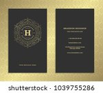 luxury business card and... | Shutterstock .eps vector #1039755286