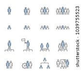 people icons line work group... | Shutterstock .eps vector #1039755523