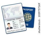 international male passport... | Shutterstock .eps vector #1039757269