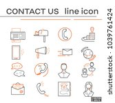 set of icons  contact us. | Shutterstock .eps vector #1039761424