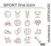 set of sport icon | Shutterstock .eps vector #1039761430