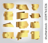 set of golden vector banner. | Shutterstock .eps vector #1039761526