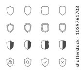 shields outline icons set | Shutterstock .eps vector #1039761703