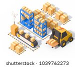 warehouse operations storage... | Shutterstock . vector #1039762273