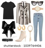 a set of fashionable clothes...   Shutterstock . vector #1039764406