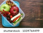 healthy food   lunch box with... | Shutterstock . vector #1039764499