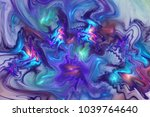 Abstract Blue  Violet And...