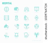 hospital thin line icons for... | Shutterstock .eps vector #1039764724