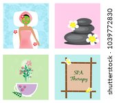 spa welness collection. eps 10. | Shutterstock .eps vector #1039772830