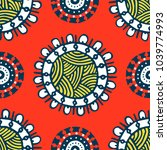 seamless pattern with ethnic... | Shutterstock .eps vector #1039774993