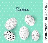 easter sale banner background... | Shutterstock .eps vector #1039776163