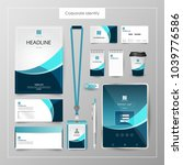 corporate identity template... | Shutterstock .eps vector #1039776586
