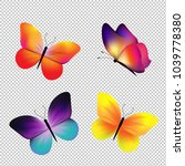 butterfly set isolated  | Shutterstock . vector #1039778380