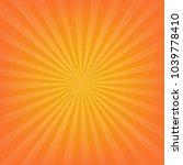 orange sunburst background  | Shutterstock . vector #1039778410