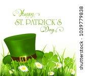 green hat of leprechaun in...   Shutterstock .eps vector #1039779838