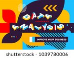 vector creative horizontal... | Shutterstock .eps vector #1039780006
