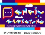 vector creative horizontal... | Shutterstock .eps vector #1039780009