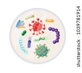 antibacterial sign set.... | Shutterstock .eps vector #1039781914